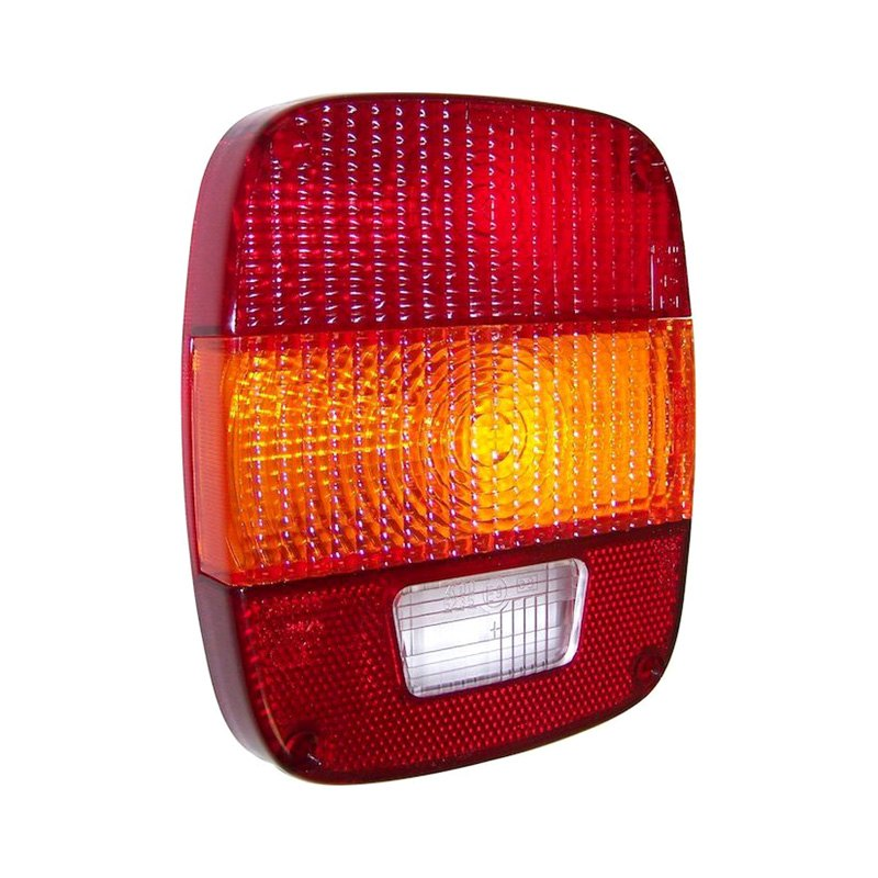 Crown Jeep Wrangler 1987 1995 Replacement Tail Light Lens