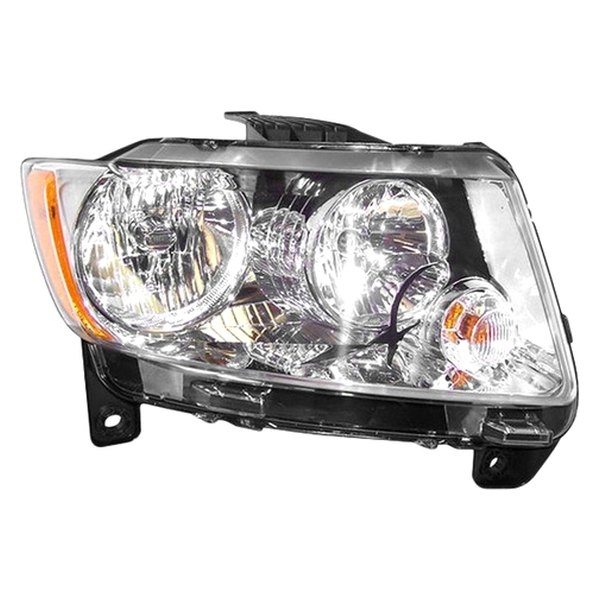 crown jeep grand cherokee with factory halogen headlights 2011 2013 replacement headlight. Black Bedroom Furniture Sets. Home Design Ideas