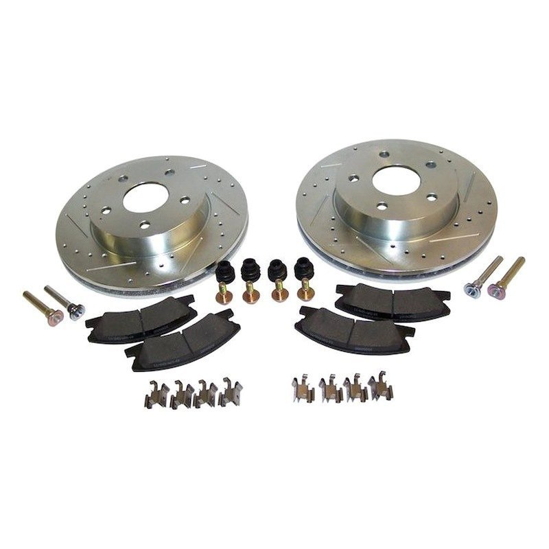 Crown Jeep Grand Cherokee 2001 Performance Drilled And Slotted Brake Kit