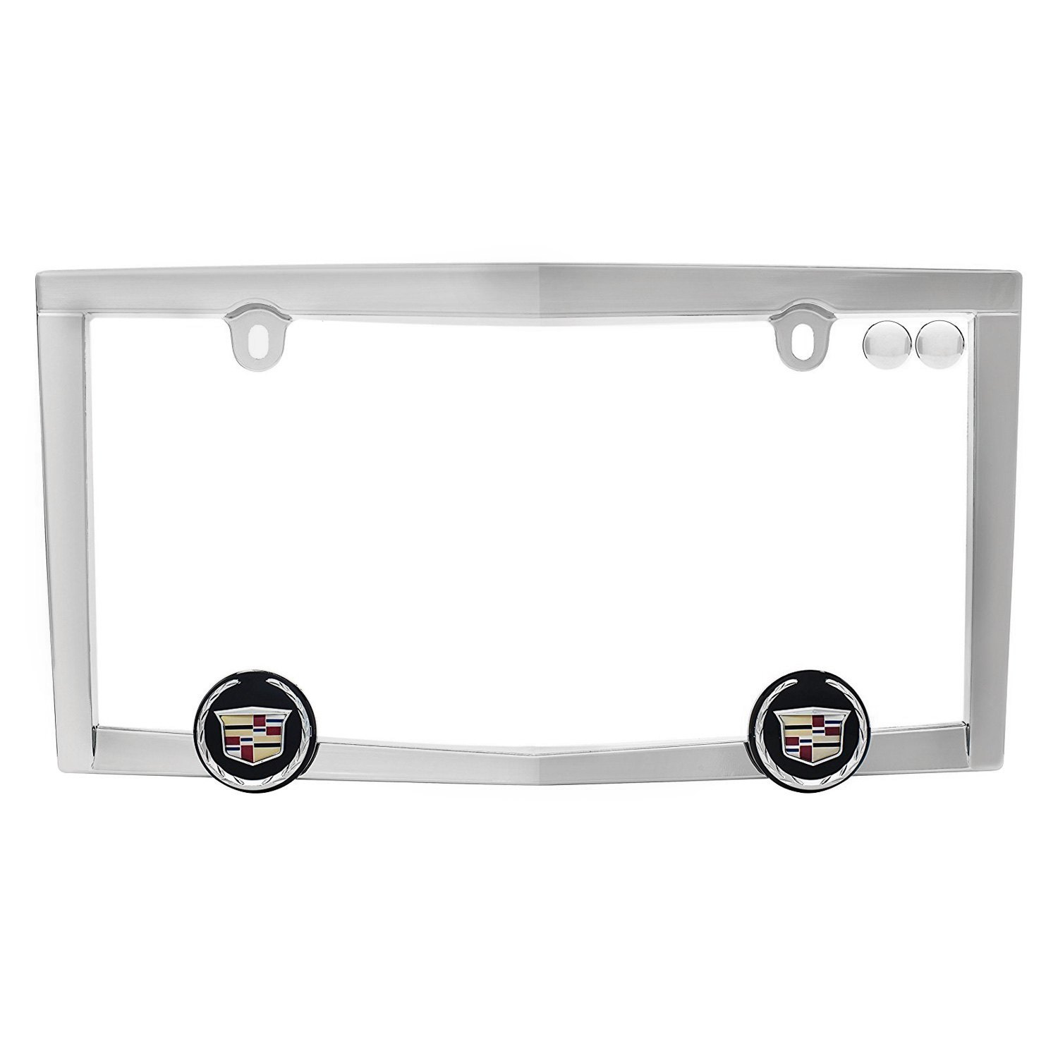 Cruiser® 10330 - Chrome License Plate Frame with Cadillac Logo with ...