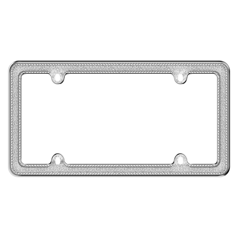 Cruiser® 17533 - Glitz Style Chrome / Silver License Plate Frame