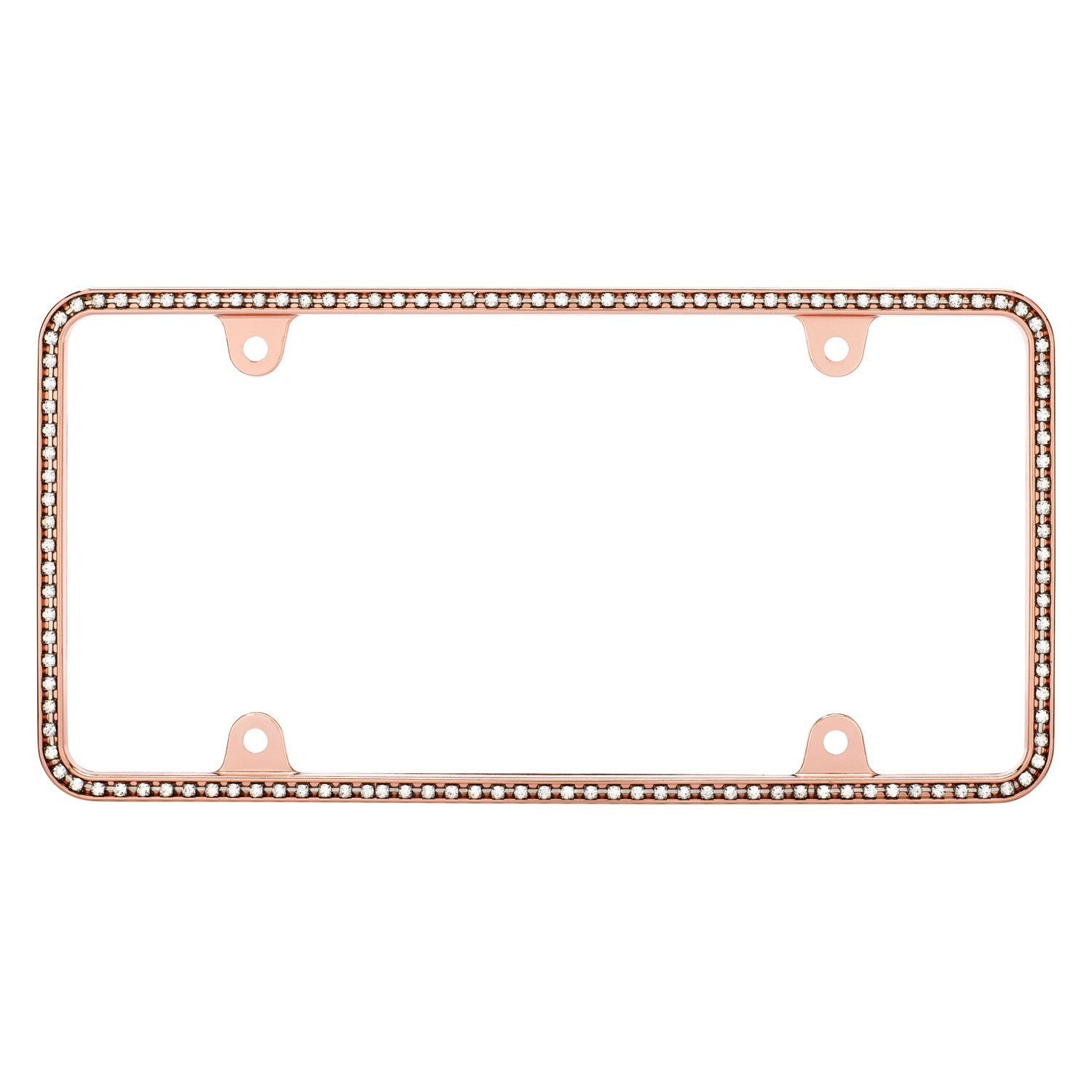 Cruiser® 18000 - Diamondesque Style Rose Gold / Clear License Plate ...