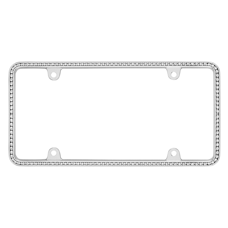 CRUISER ACCESSORIES Clear Diamondesque Chrome License Frame CRU18130