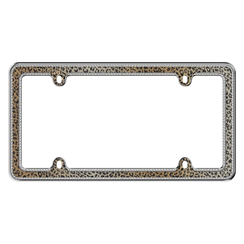 cruiser 18517   bling style leopard license plate frame