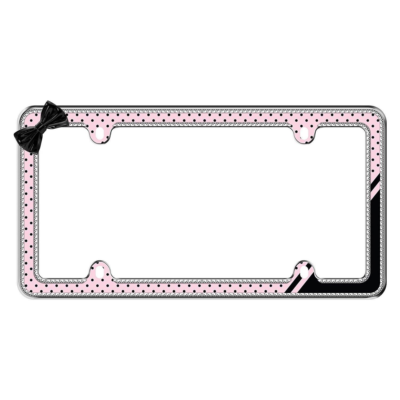 Cruiser® 18536 - Bling Style Retro Polka Dot License Plate Frame