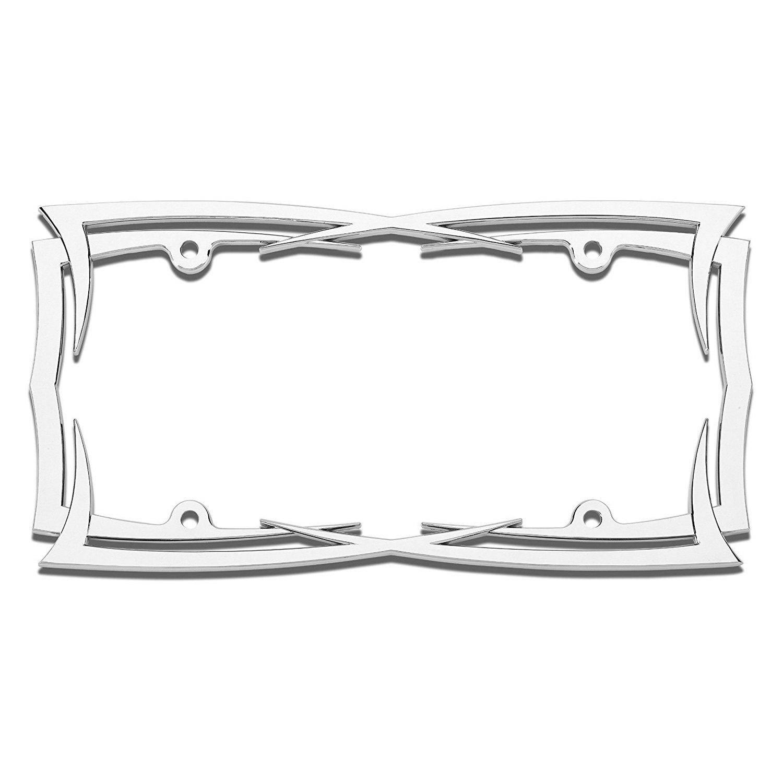 Cruiser® 22013 - Blades Style Chrome License Plate Frame