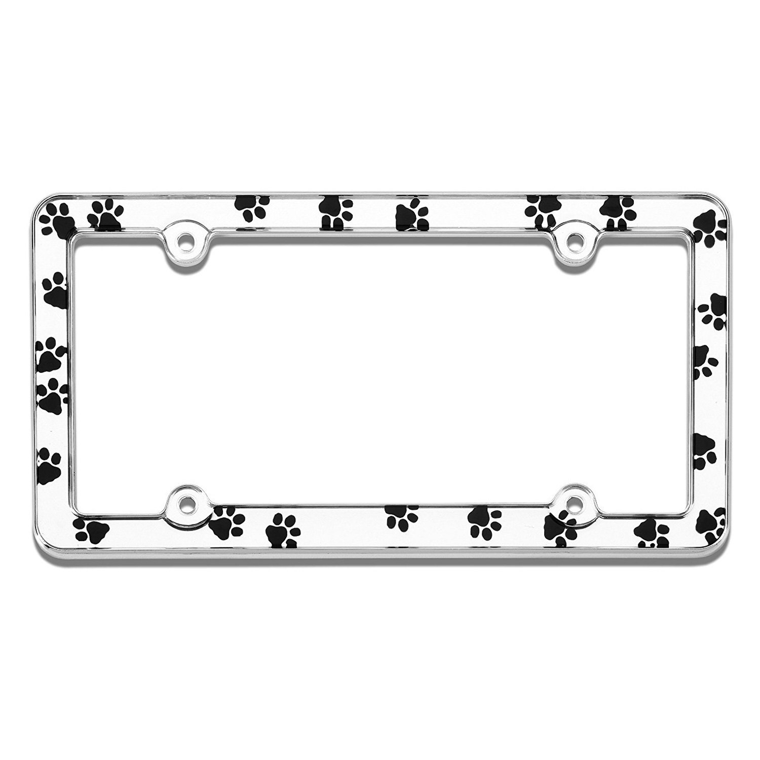 Cruiser® 23033 - Paws Style Chrome License Plate Frame