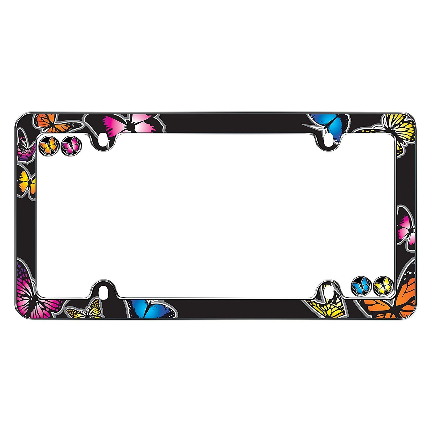 Cruiser® 23053 - Butterfly Style Chrome License Plate Frame with ...