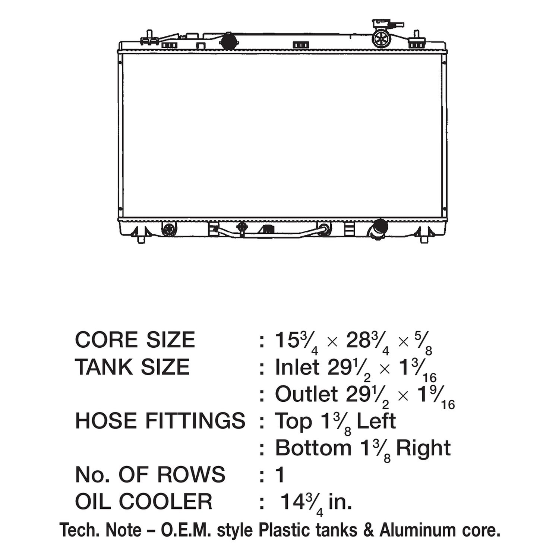 CSF 3312 Radiator
