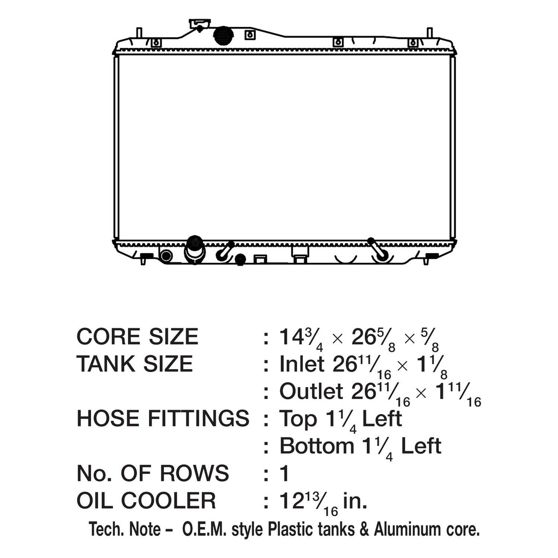 CSF 3643 Radiator