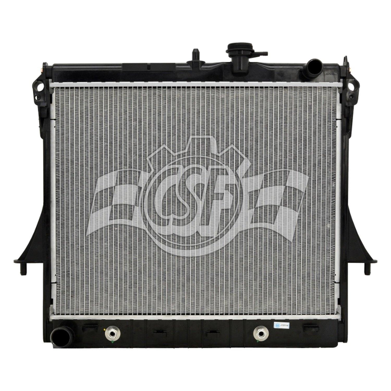 Radiator-1 Row Plastic Tank Aluminum Core CSF 3720