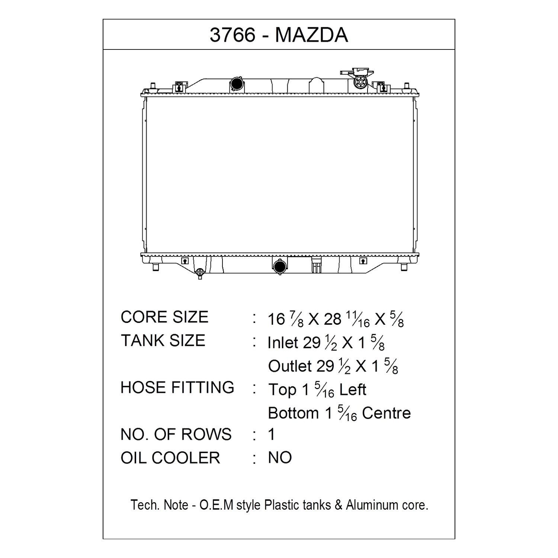 CSF 3766 Radiator