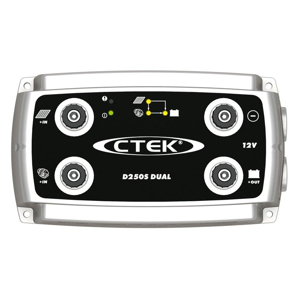 ctek battery charger d250s dual 12v ebay. Black Bedroom Furniture Sets. Home Design Ideas