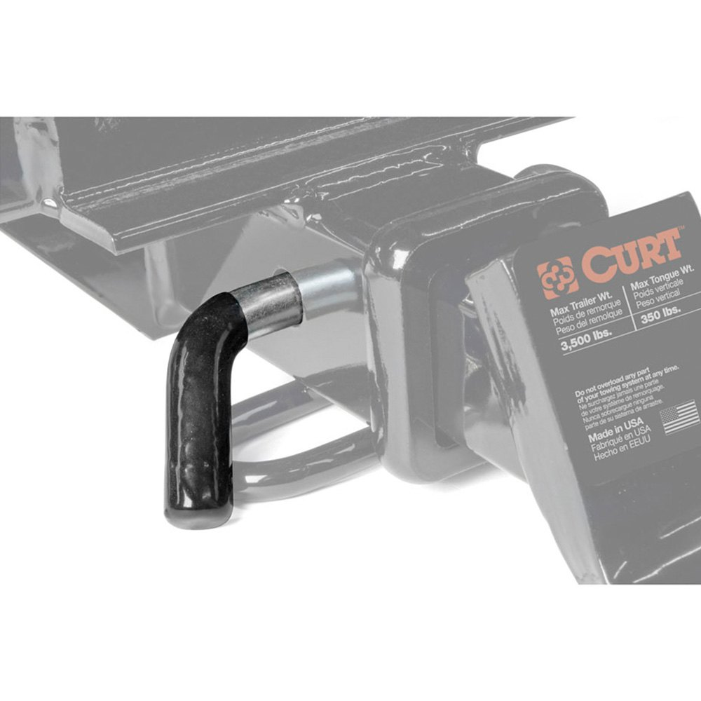 9 16 Hitch Pin : Curt  quot zinc black hitch receiver pin for