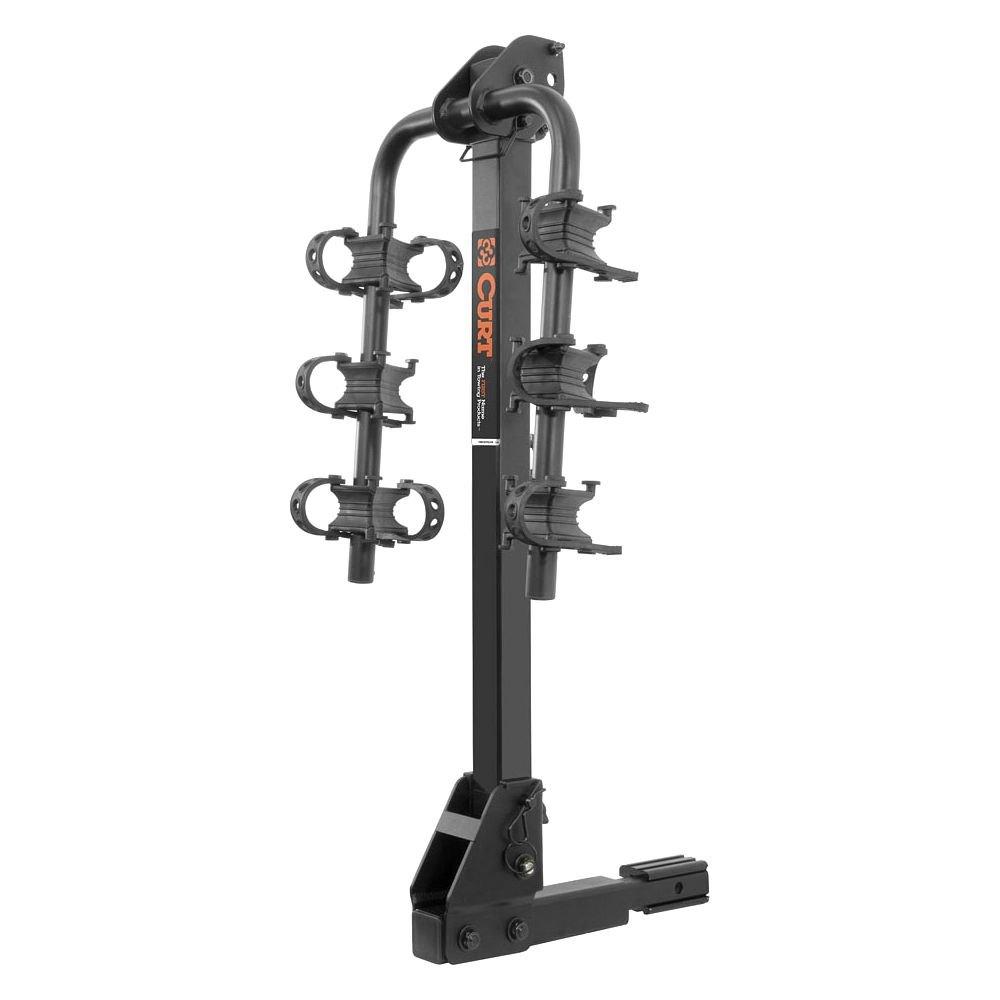 Curt 174 18033 Hitch Mount Bike Rack 3 Bike Fits 1 1 4