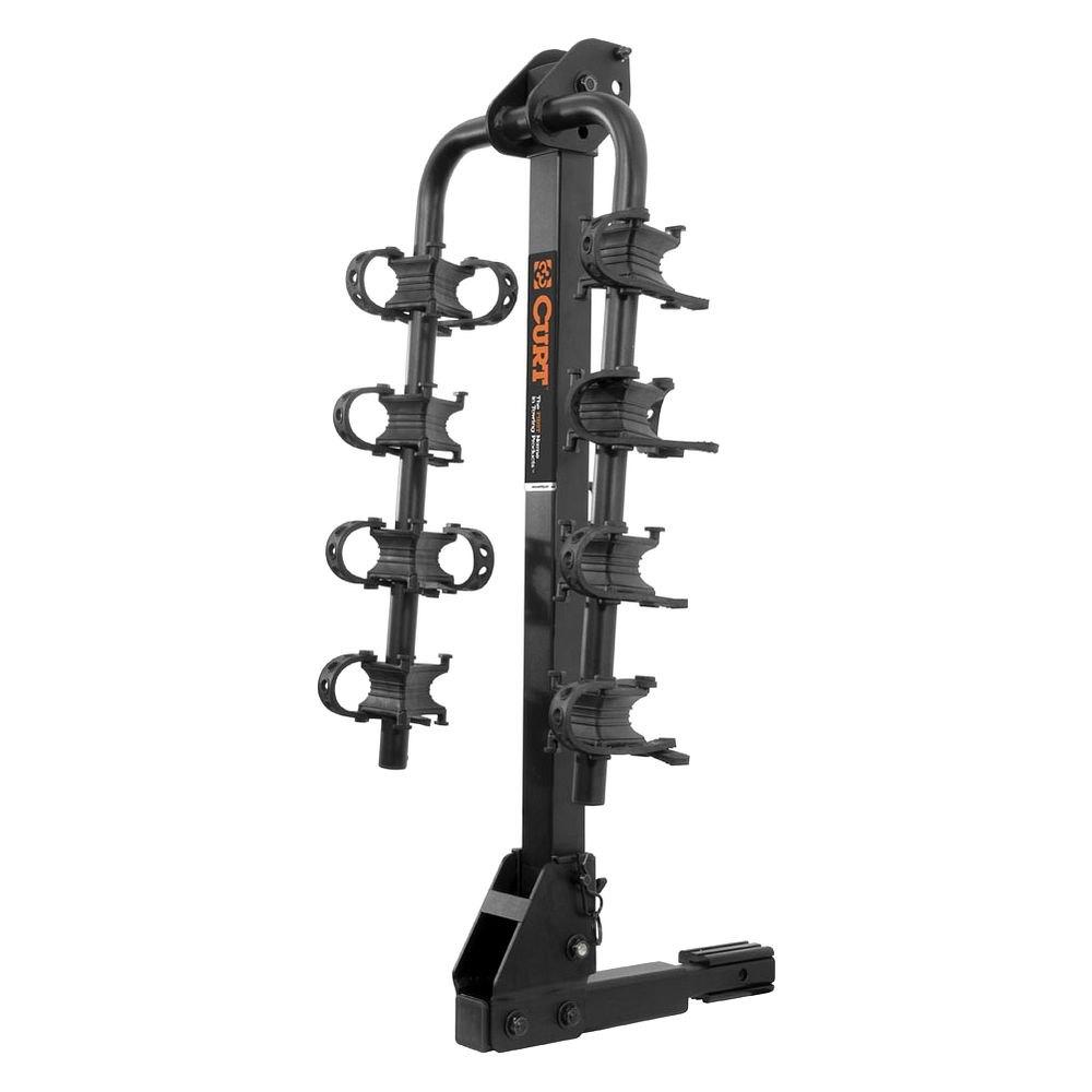 Curt 174 18034 Hitch Mount Bike Rack 4 Bike Fits 1 1 4