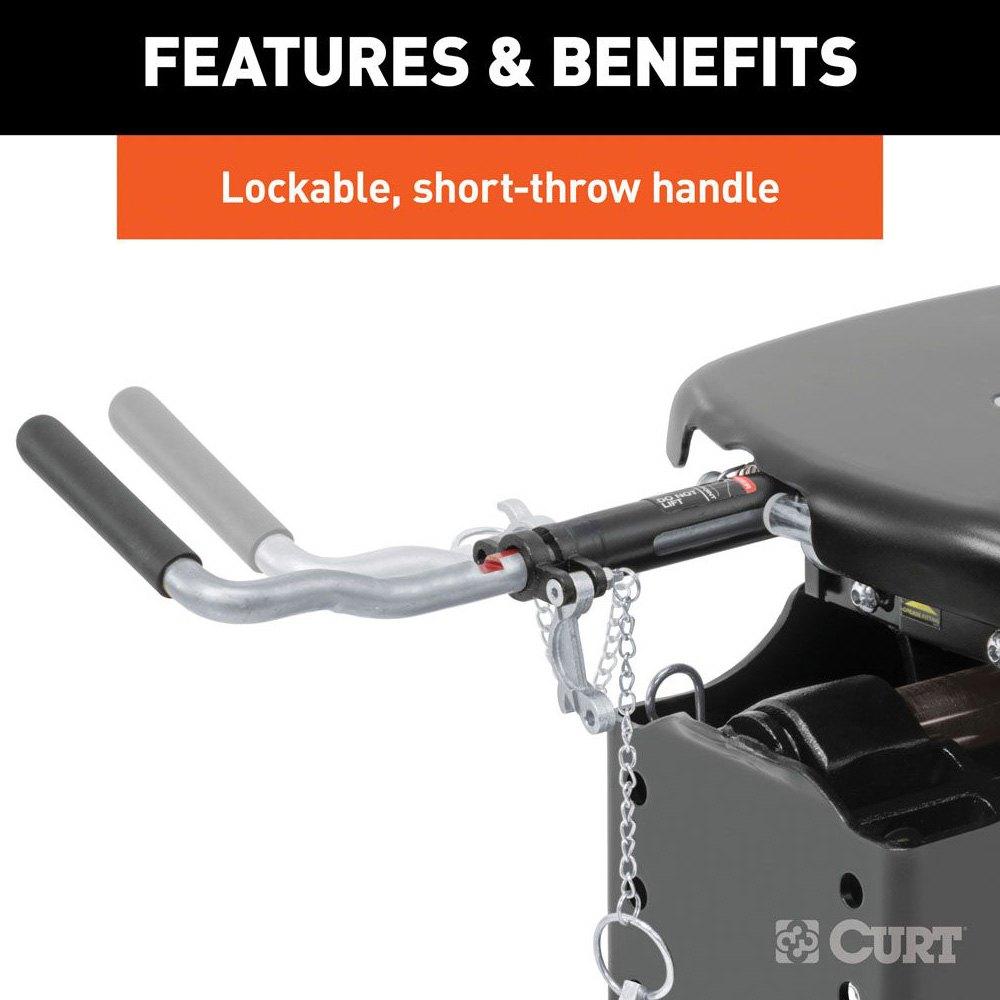 5th Wheel Travel Trailers: CURT 16037 Q24 Series 5th Wheel Hitch Head W Legs