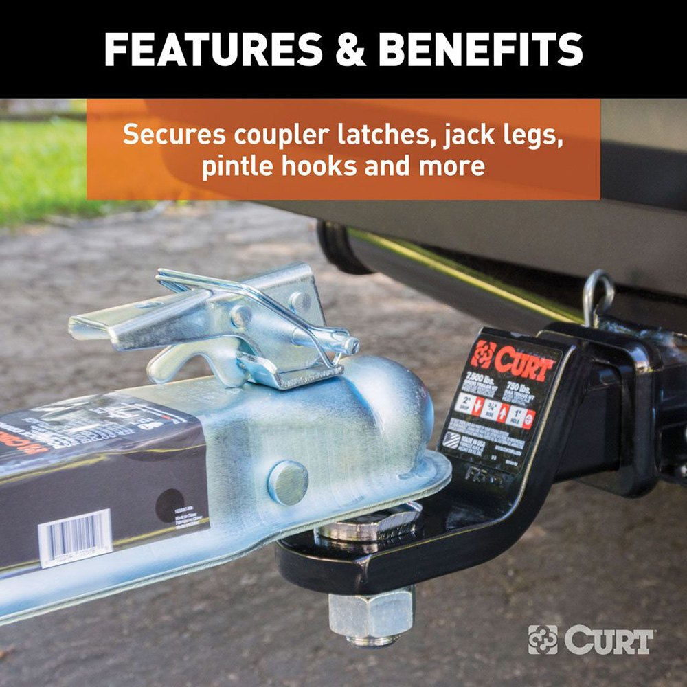 Coupler Safety Pin : Curt  quot trailer hitch coupler safety pin