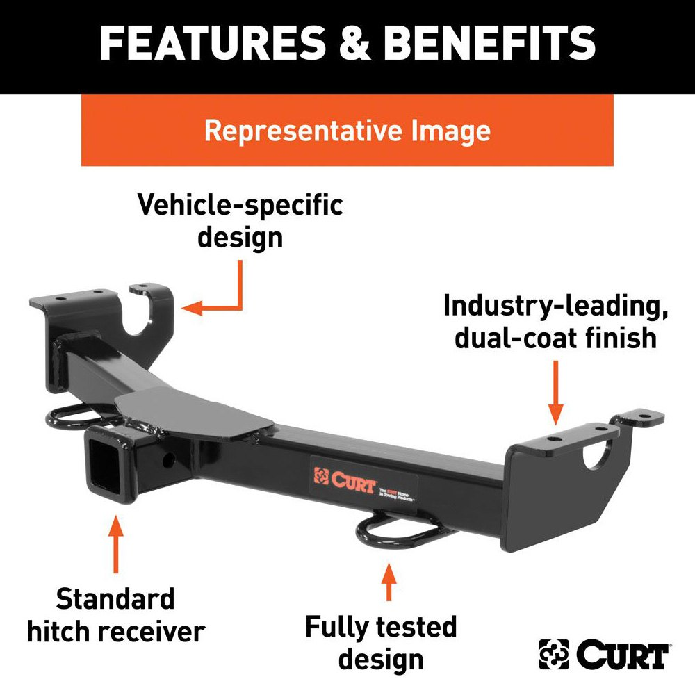 curt 31270 hummer h3 2006 class 3 exposed front trailer hitch with 2 receiver opening. Black Bedroom Furniture Sets. Home Design Ideas