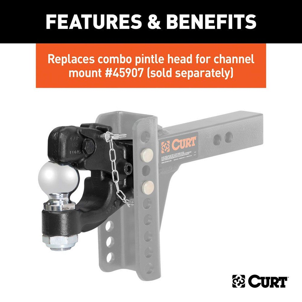 Curt 45920 Channel Mount Forged Pintle Hook W 2 5 16 Quot Ball
