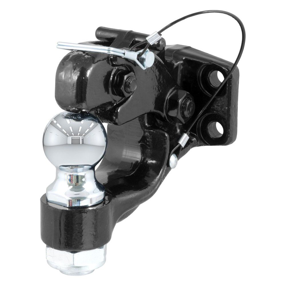 """Pintle Hook Hitch >> CURT® 48190 - Combination Pintle Hook with 2"""" Ball (10000 lbs Capacity)"""