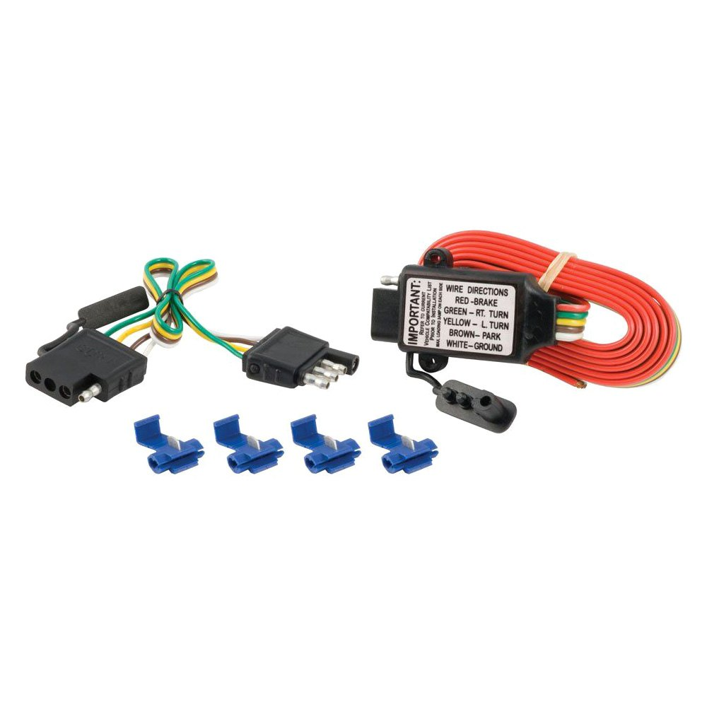 Curt 55179 Non Powered 3 To 2 Wire Tail Light Converter Wiring Trailer Hitch No 4 Flat Custom Fit
