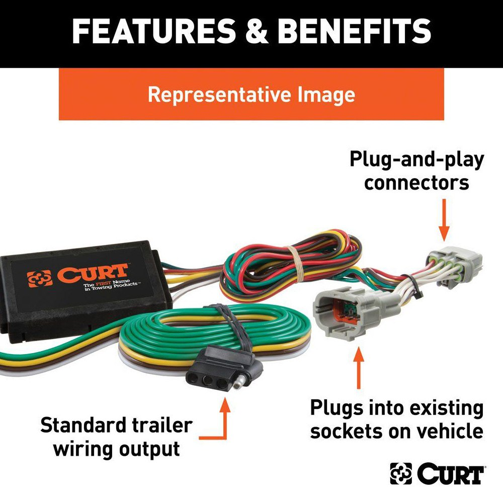 CURT® 55502 - T-Connector (3-Wire System with Converter)