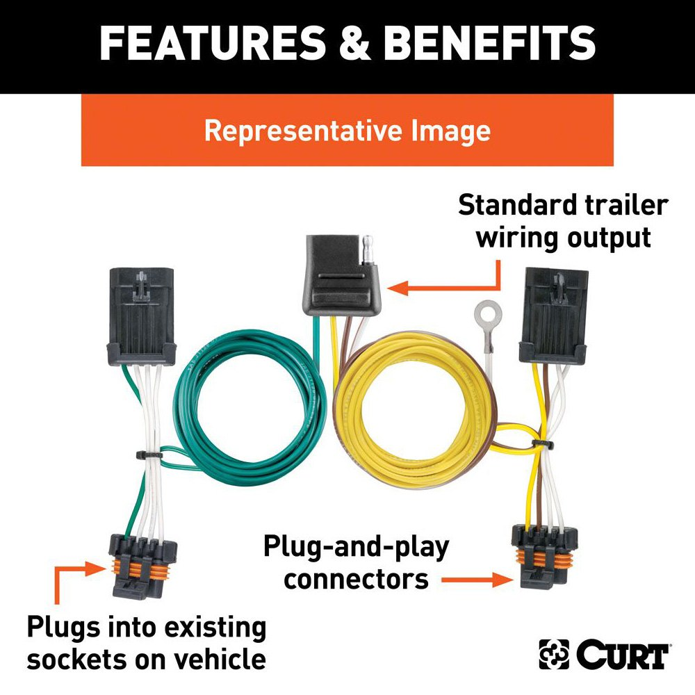 CURT® 55537 - T-Connector (2-Wire)