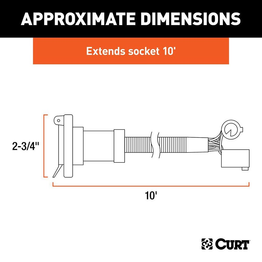 curt 56000 10 39 5th wheel and gooseneck wiring harness ebay. Black Bedroom Furniture Sets. Home Design Ideas