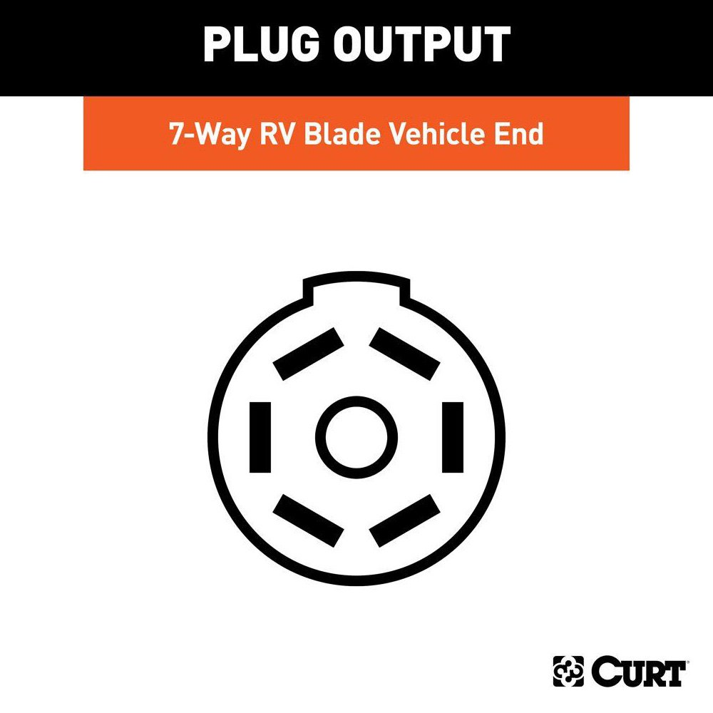 Curt 56071 7 5th Wheel And Gooseneck Wiring Harness Way