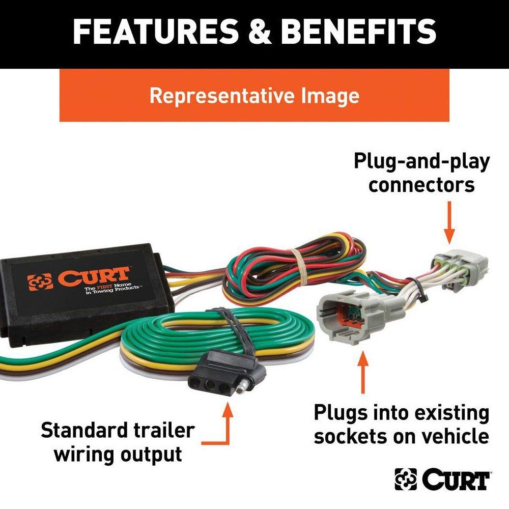 56360 2 curt custom wiring harness 56360 curt hitch wiring harness Curt 7 Pin Wiring Harness at bayanpartner.co