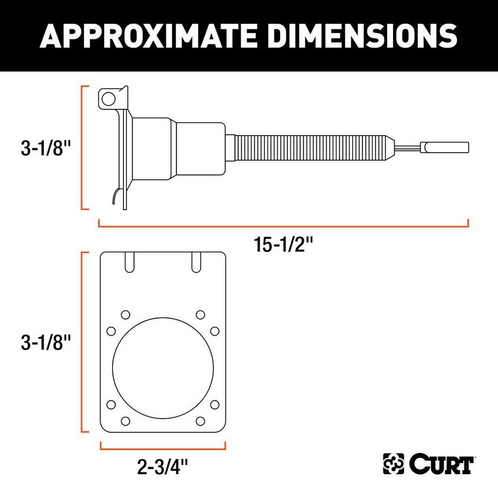 curt 4 way flat to round adapter rh carid com