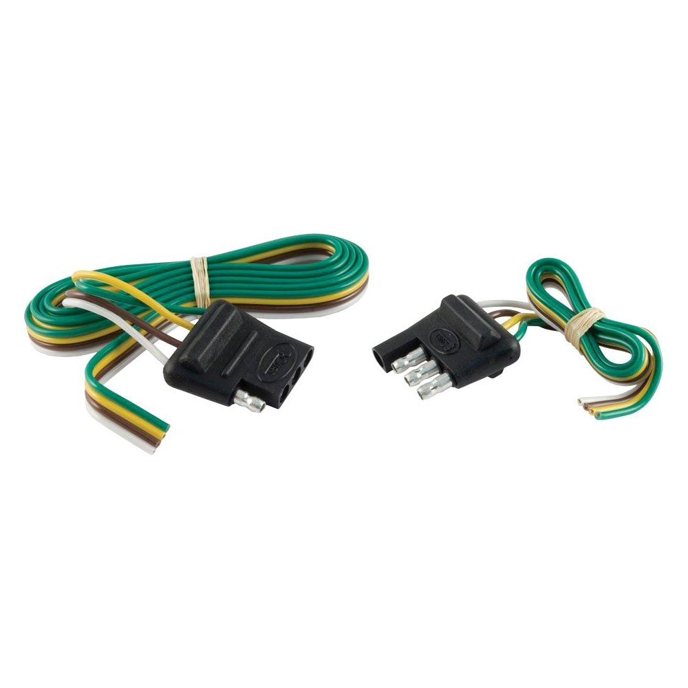 Curt 4 Way Flat Connector Plug And Socket Wiring 12 Bondedcurt Socketcurt