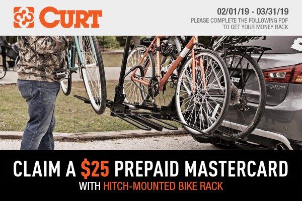 Buy new CURT Hitch-Mounted Bike Rack at CARiD - Get $25 back