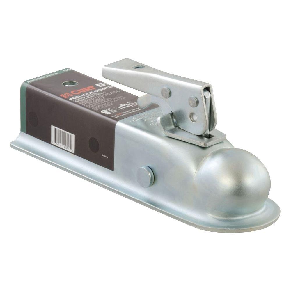 Trailer Hitch Coupler Types : Curt class posi lock quot zinc trailer coupler
