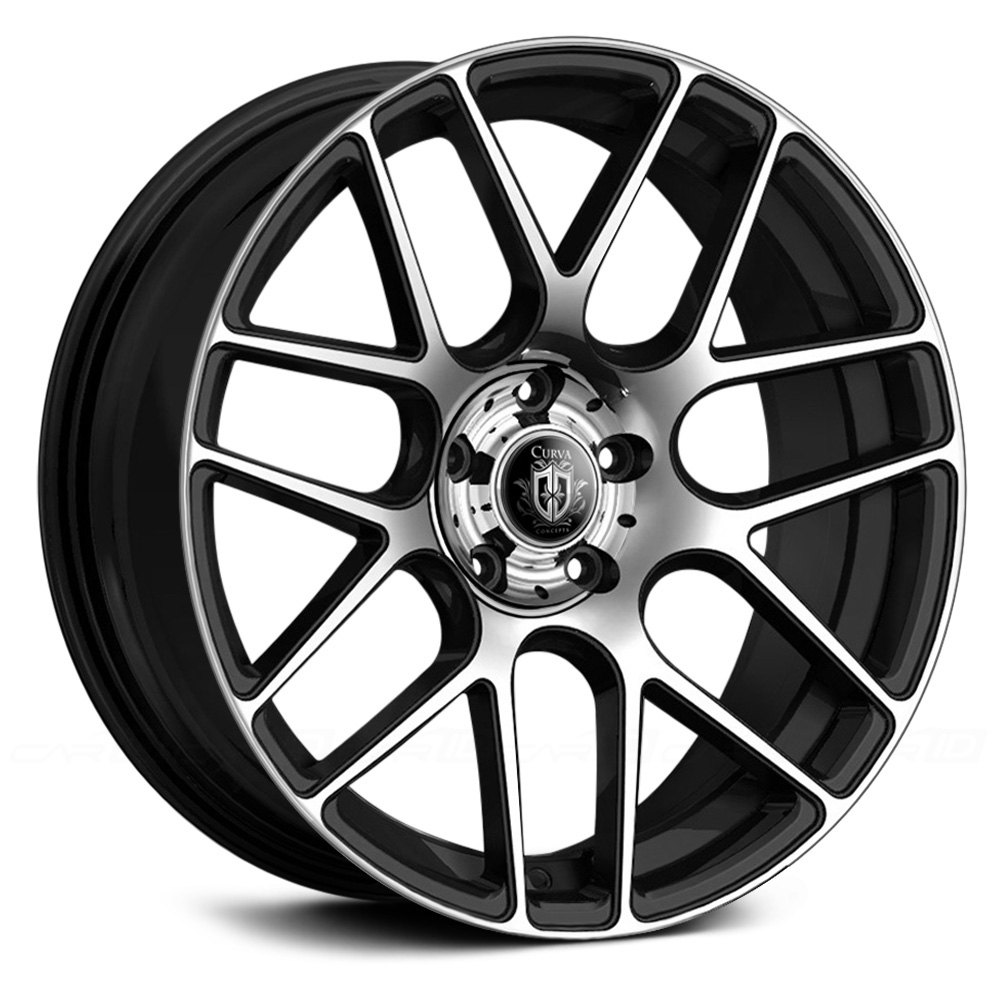 Black With Machined Face Rims