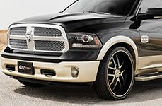 D2FORGED® - FMS08 Black with Machined Face on Dodge Ram