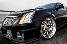 D2FORGED® - FMS11 Gunmetal with SS Lip on Cadillac CTS
