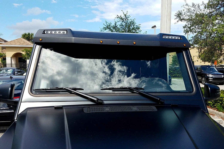 ... 4+4 Square Style Carbon Fiber Roof Sun Visor with DRL ... e6af618c928