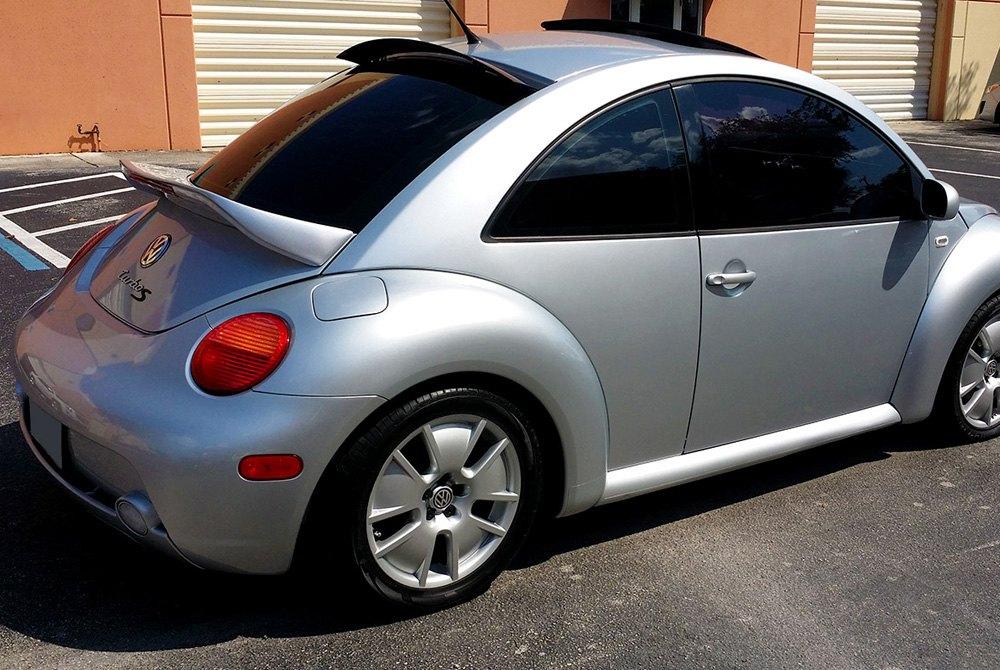 ds volkswagen beetle   euro style fiberglass rear wing spoiler  light