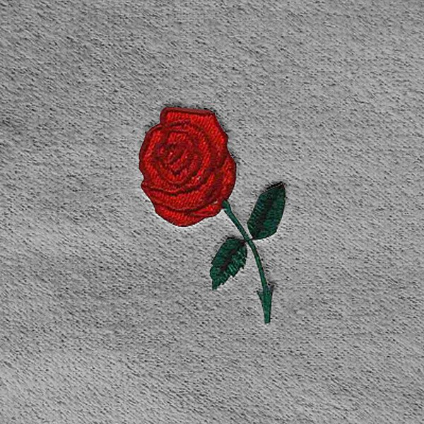 Dash designs lg red rose embroidery logo