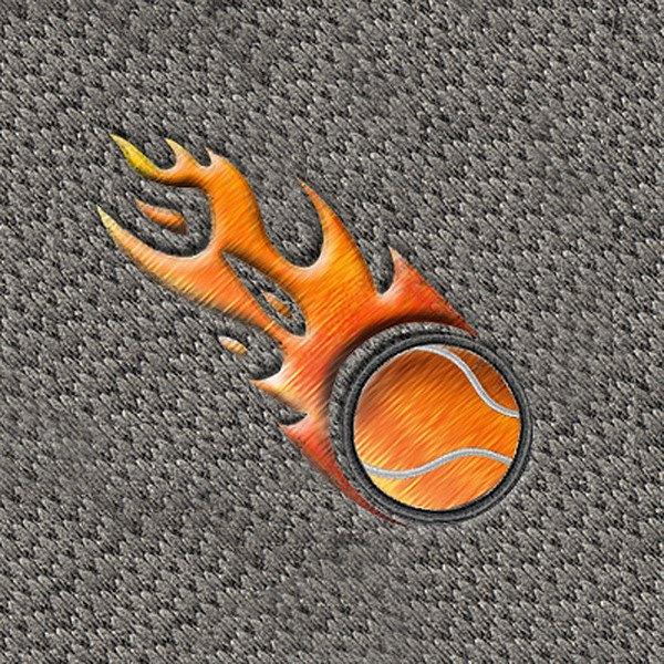dashmat174 ls132 quotflaming tennis ballquot embroidered logo