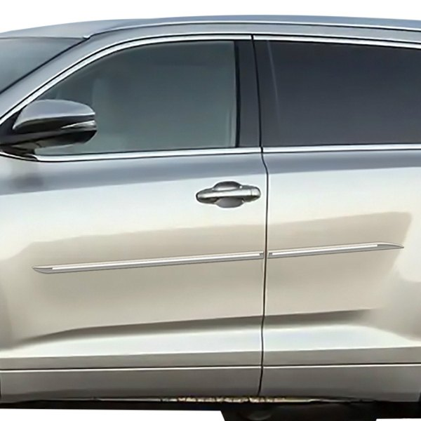 "Toyota Sequoia Chromeline Painted Body Side Molding 2008: Toyota Highlander 2018 1.45"" Wide Body Side Moldings"