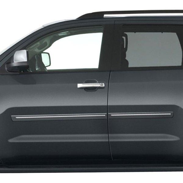 "Toyota Sequoia Chromeline Painted Body Side Molding 2008: Toyota Sequoia 2008-2017 2.5"" Bodyside Moldings"