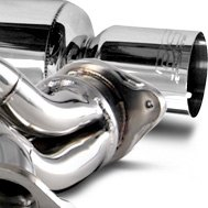 DC Sports® - Polished Stainless Steel Back Exhaust System