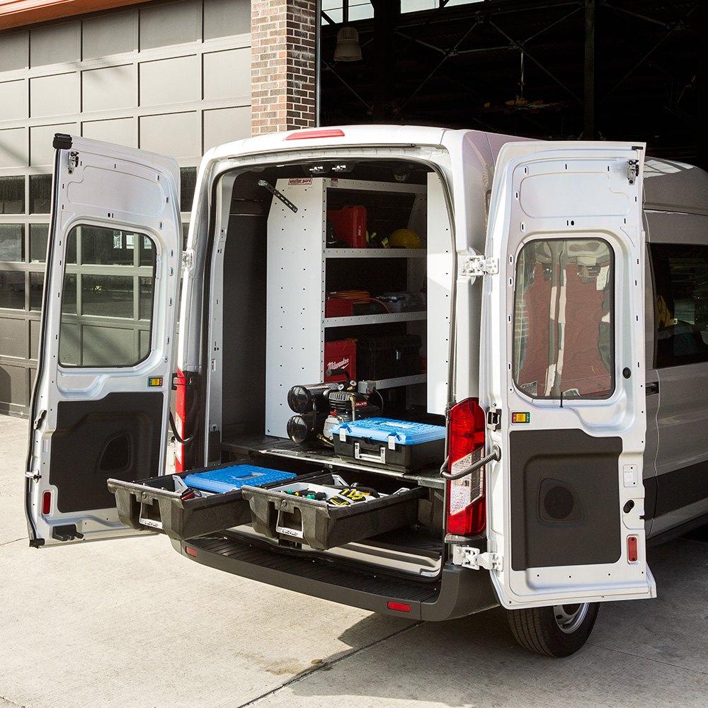 Decked ford transit 2015 2017 cargo van storage system - Commercial van interior accessories ...