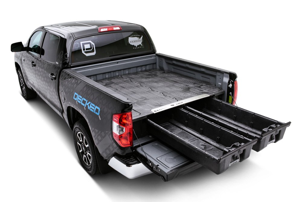 Truck Bed Storage System (DR4) by DECKED®. Finish: Black. Material ...