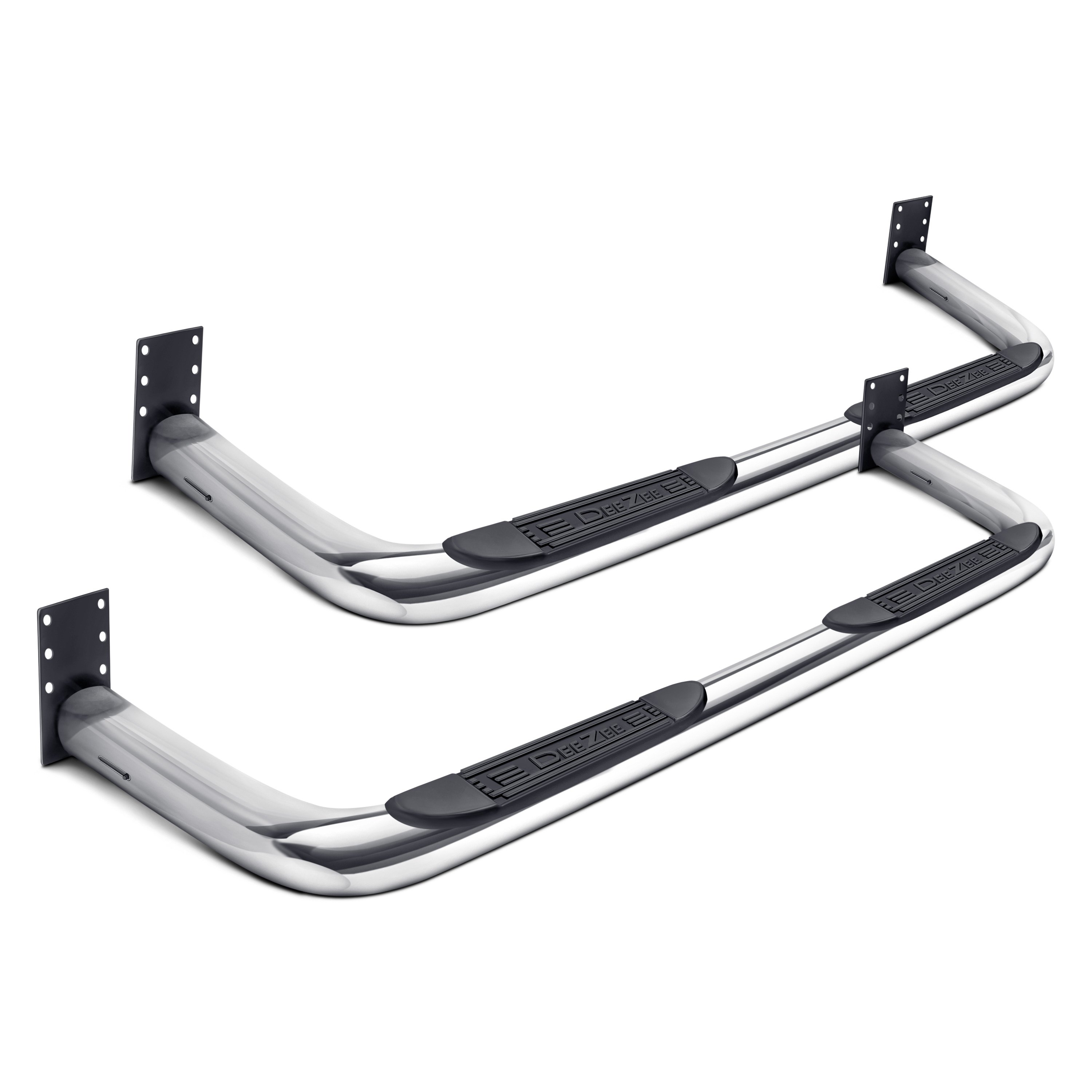 Dee Zee 174 Dz3700293 3 Quot Cab Length Polished Round Nerf Bars