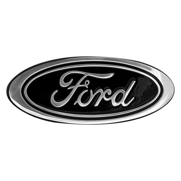 """Ford F150 Tailgate Emblem Replacement DefenderWorx® 98403 - 9"""" Black Oval Grille / Tailgate ..."""