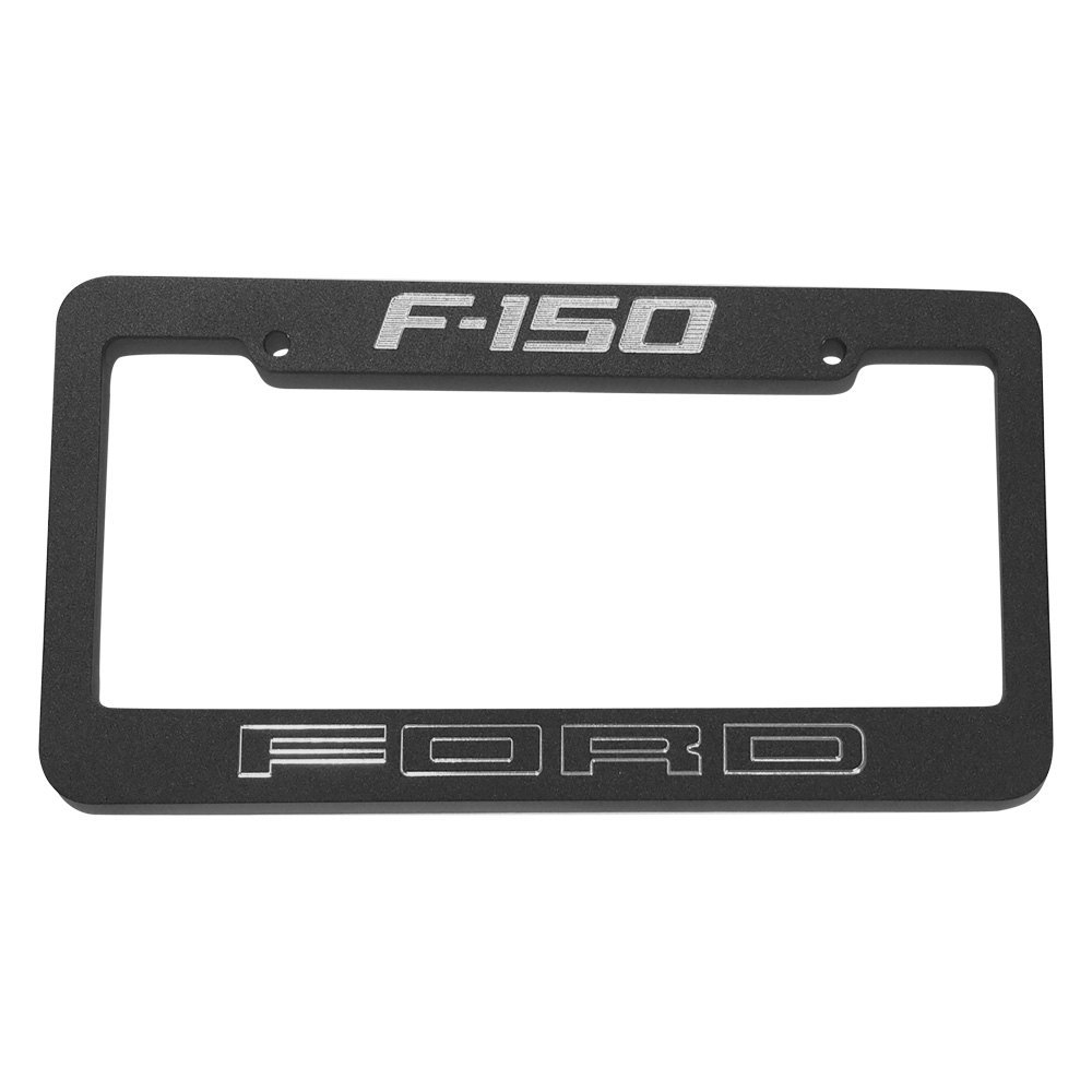 Aluminum License Plate Frame >> DefenderWorx® 901367 - Black License Plate Frame with Ford F-150 Logo